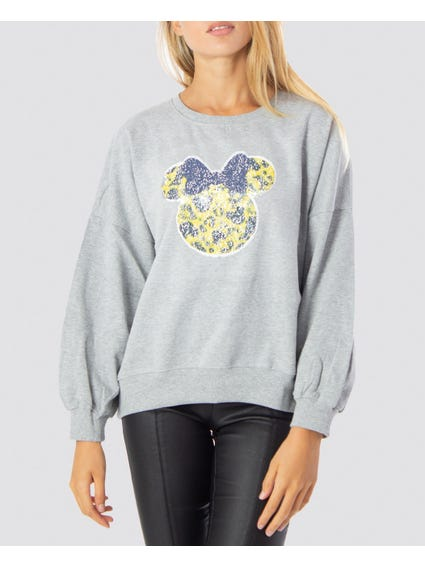 Grey Printed Minnie Sweatshirts
