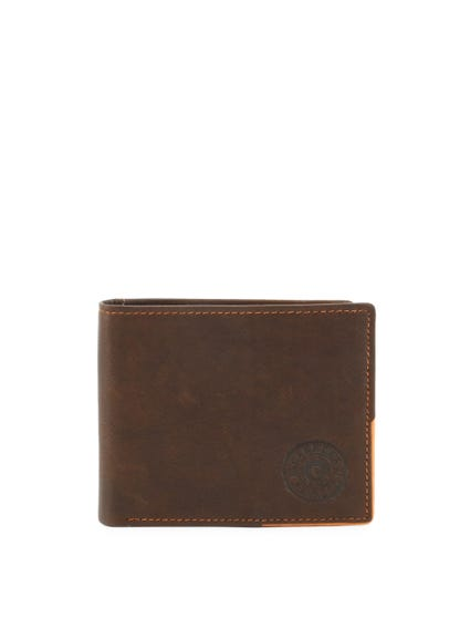 Brown Nairobi leather Bi Fold Wallet