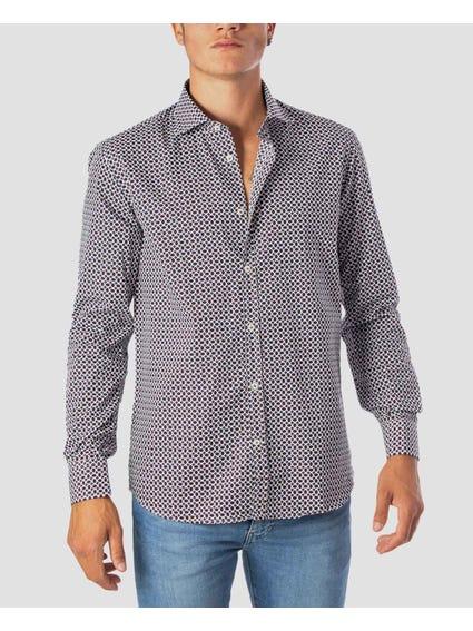 Allover Print Long Sleeves Shirt