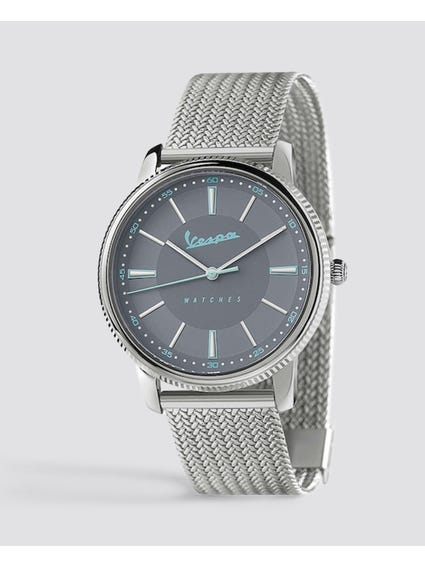 Heritage Grey Dial Stainless Steel Watch