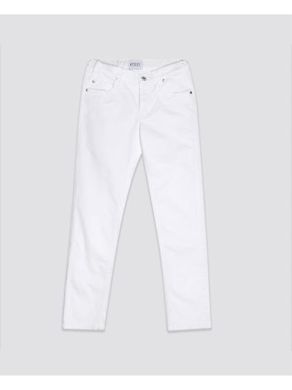 Plain Zipper Kids Trouser