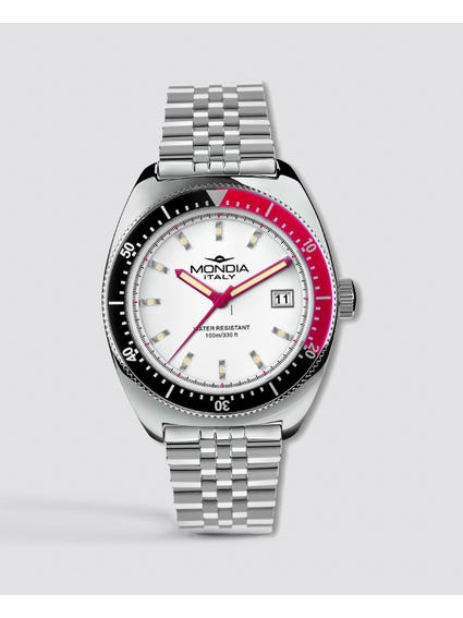 White Dial Stainless Steel Analog Watch
