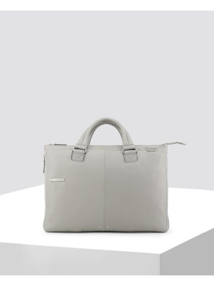 Grey Patch Logo Briefcase