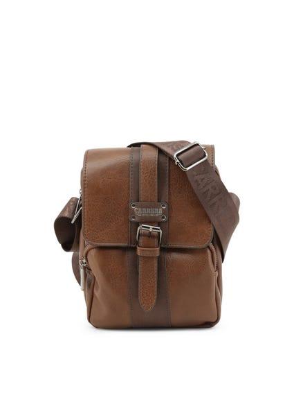 Brown Devon Magnetic Buckle Crossbody Bag