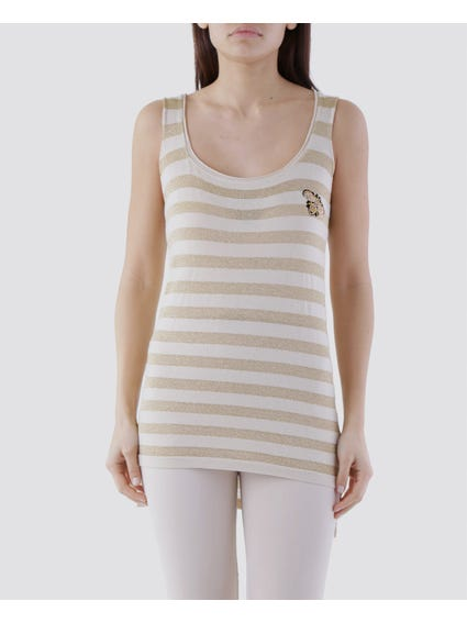 Crew Neck Striped Tank Top