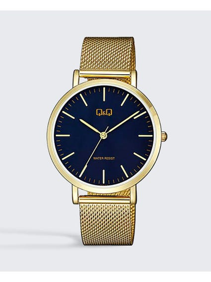 Navy Dial Stainless Steel Mesh Watch