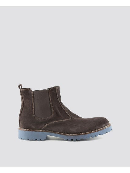 Brown Filippo Elasticated Insert Ankle Boots