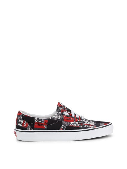Black Printed Authentic Sneakers