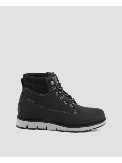 Black Ontario Eyelet Ankle Boots