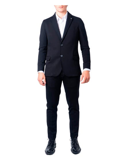Black Long Bull Sleeve Suit