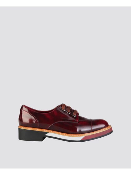 Burgundy Catharina Lace Up