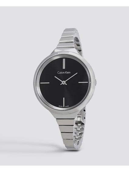 Lively Black Dial Steel Ladies Watch