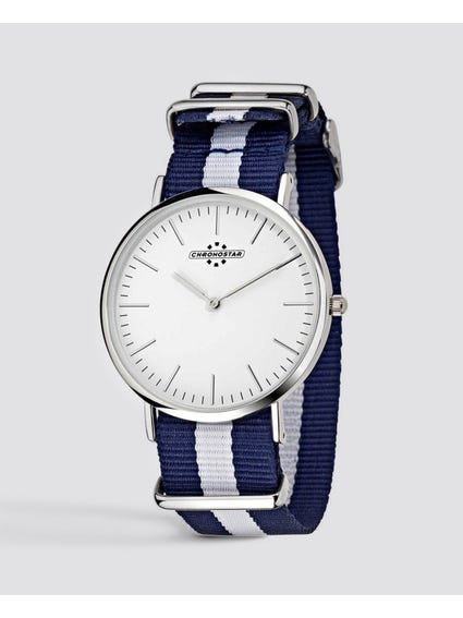 Blue Preppy Nato Strap Watch