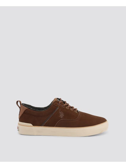 Brown Anson Leather Sneakers