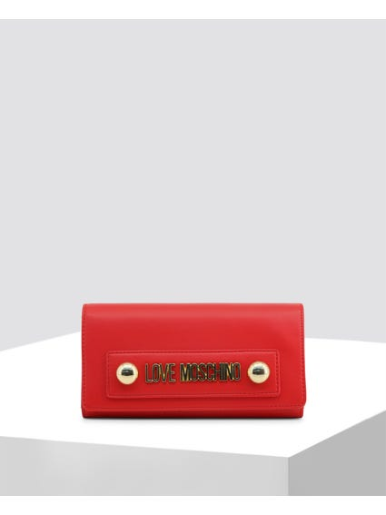 Red Studs Clutch Bag