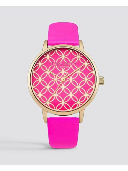 Patterned Dial Analog Watch