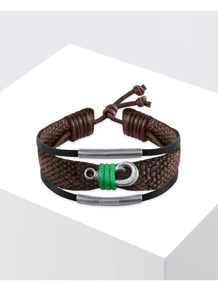 Brown Rude Cord Bracelet