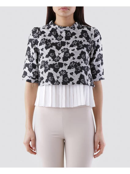Pleated Hem Blouse