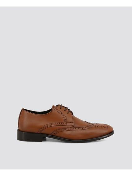 Brown Viento Suede Brogue Shoes