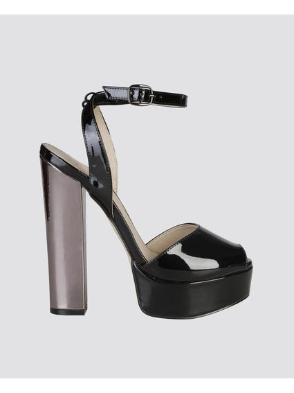 May Nero Block Heel Sandals