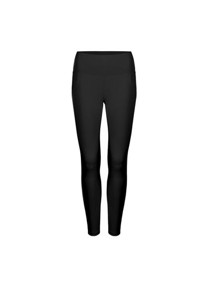 Black Elasticated Waist Pocket Leggings