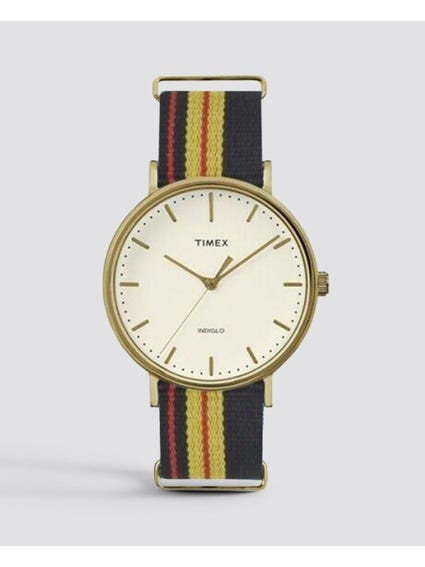 Navy Multi Fairfield Fabric Strap Quartz Watch