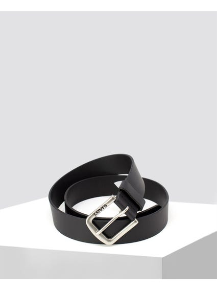 Black Cintura Seine Leather Belt