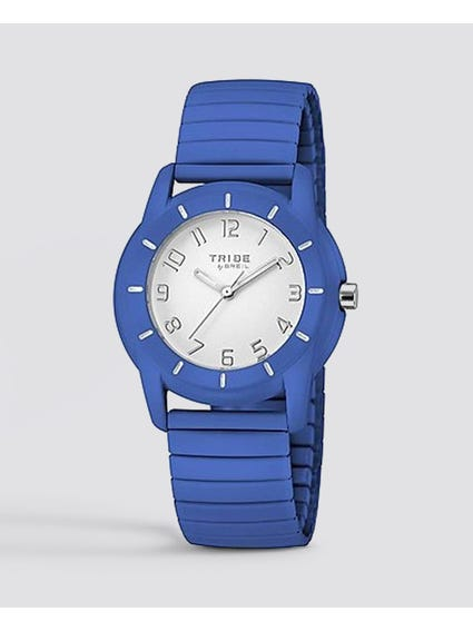 Blue Brick Silicone Watch