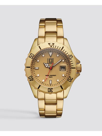 Gold Dial Analog Watch