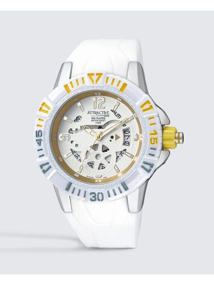 Stylish White Dial Analog Watch