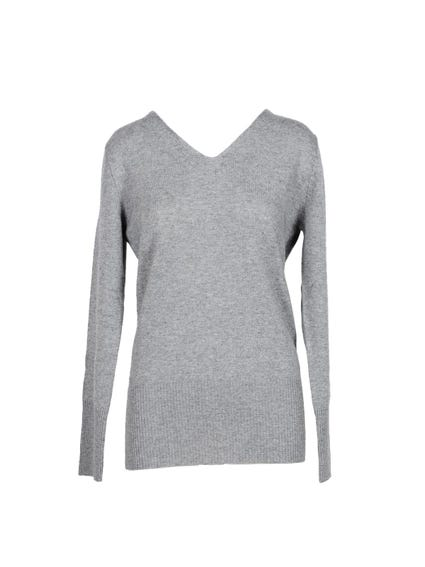 V Neck Plain Knitwear