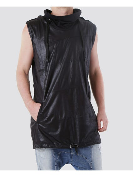 Glossy Sleeveless Knitwear Top