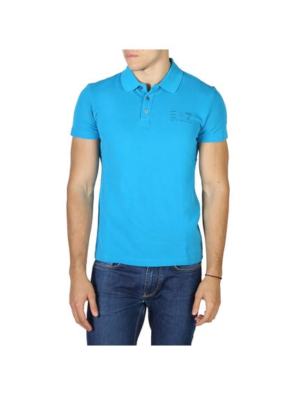 Blue Collar Button Polo Shirt