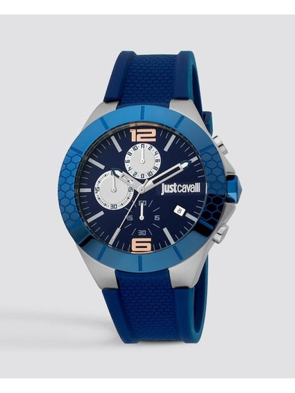Blue Quartz Chronograph Watch