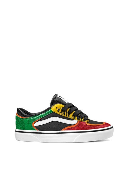 Black Cotton Label Multi Colored Sneakers