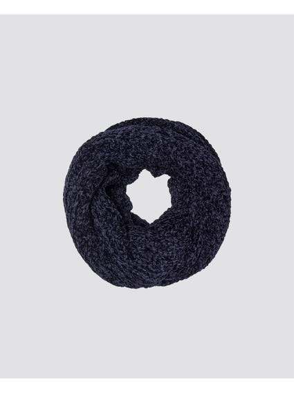 Blue Tasse Knitted Tube Scarf