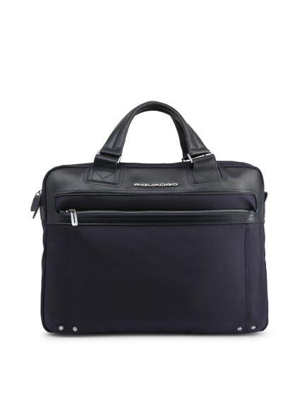 Blue Two Handle Zip Briefcase