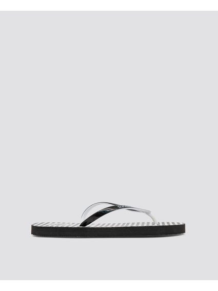 Fulda Striped Design Flip Flops