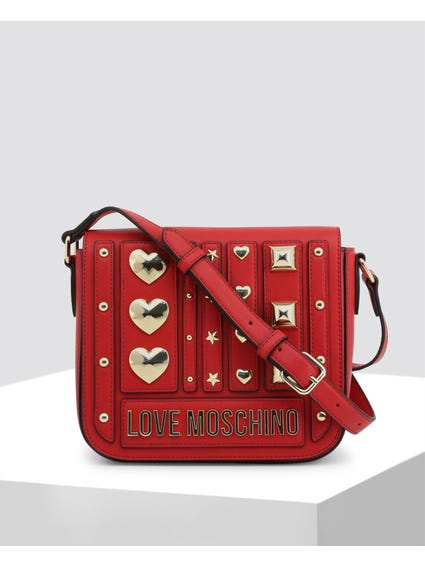Red Studded Snap Bag