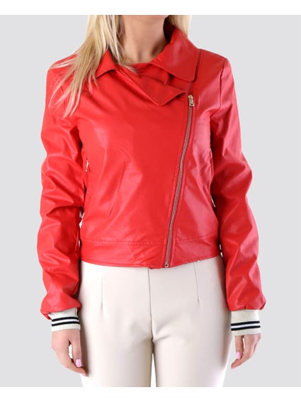 Red Chic Collar Jacket