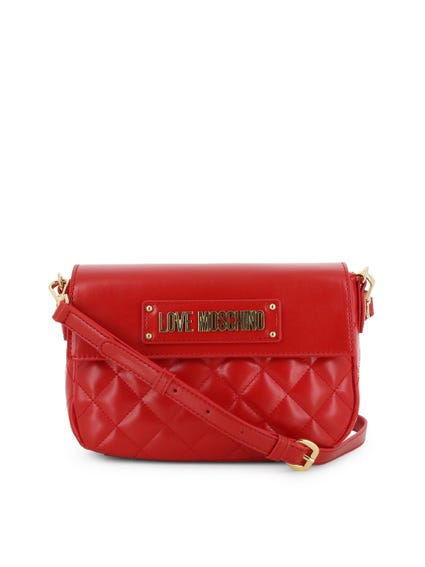 Red Quilted Magnetic Crossbody Bag