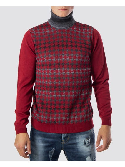 Red Abstract Print Knitwear