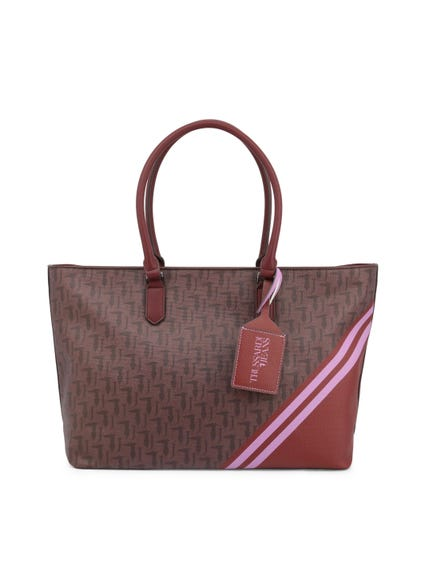 Brown Wood Vaniglia 2 Handles Shopping Bag