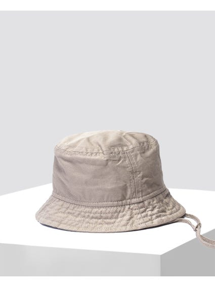 Beige Stitch Design Hat