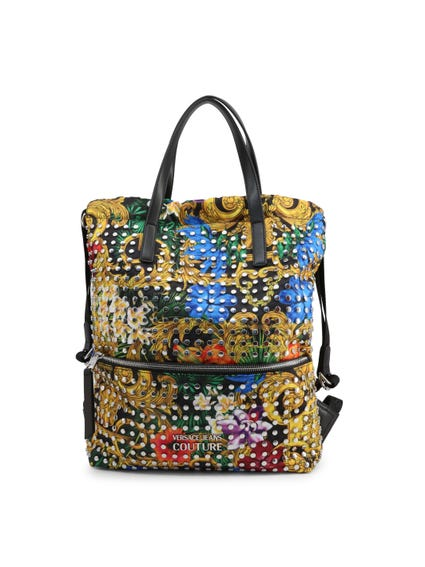 Floral Print Studs Backpack