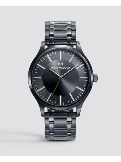 Black Stainless Steel Analog Watch