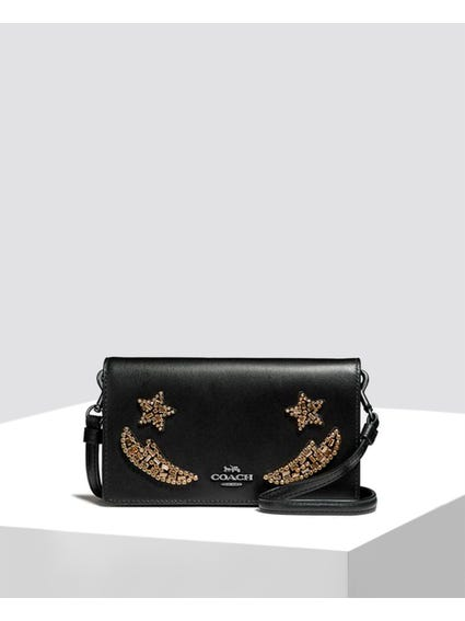 Black Embellished Crossbody Bag