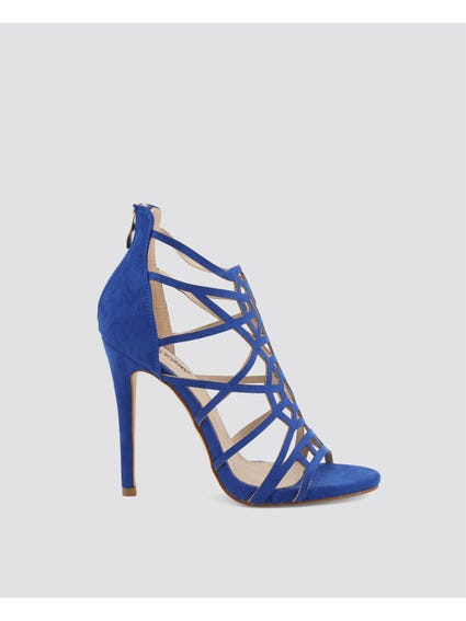 Blue Gladiator High Heel Sandals