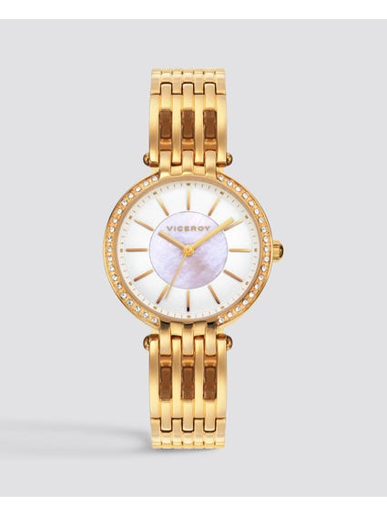 Gold Femme Stainless Steel Watch