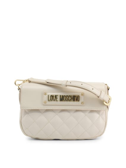 White Quilted Magnetic Crossbody Bag